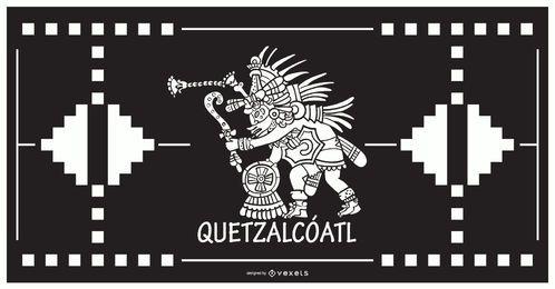 Diseño de dios azteca de Quetzalcoatl