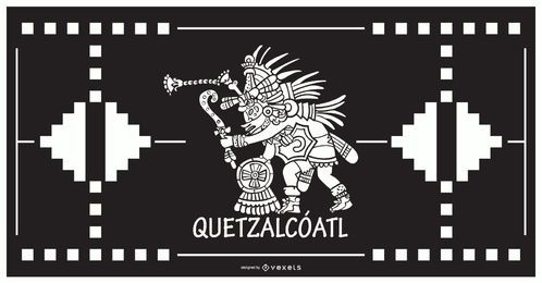 Quetzalcoatl dios azteca diseño