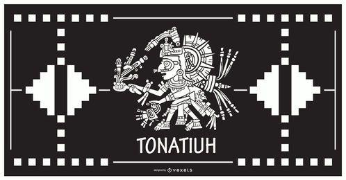Diseño del dios azteca Tonatiuh