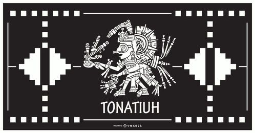 Tonatiuh aztec god design