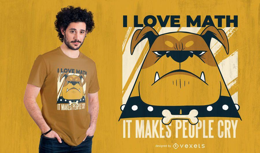 Design de t-shirt de citação de matemática de cão