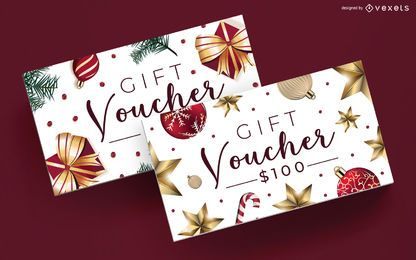 Christmas Gift Voucher Editable Template