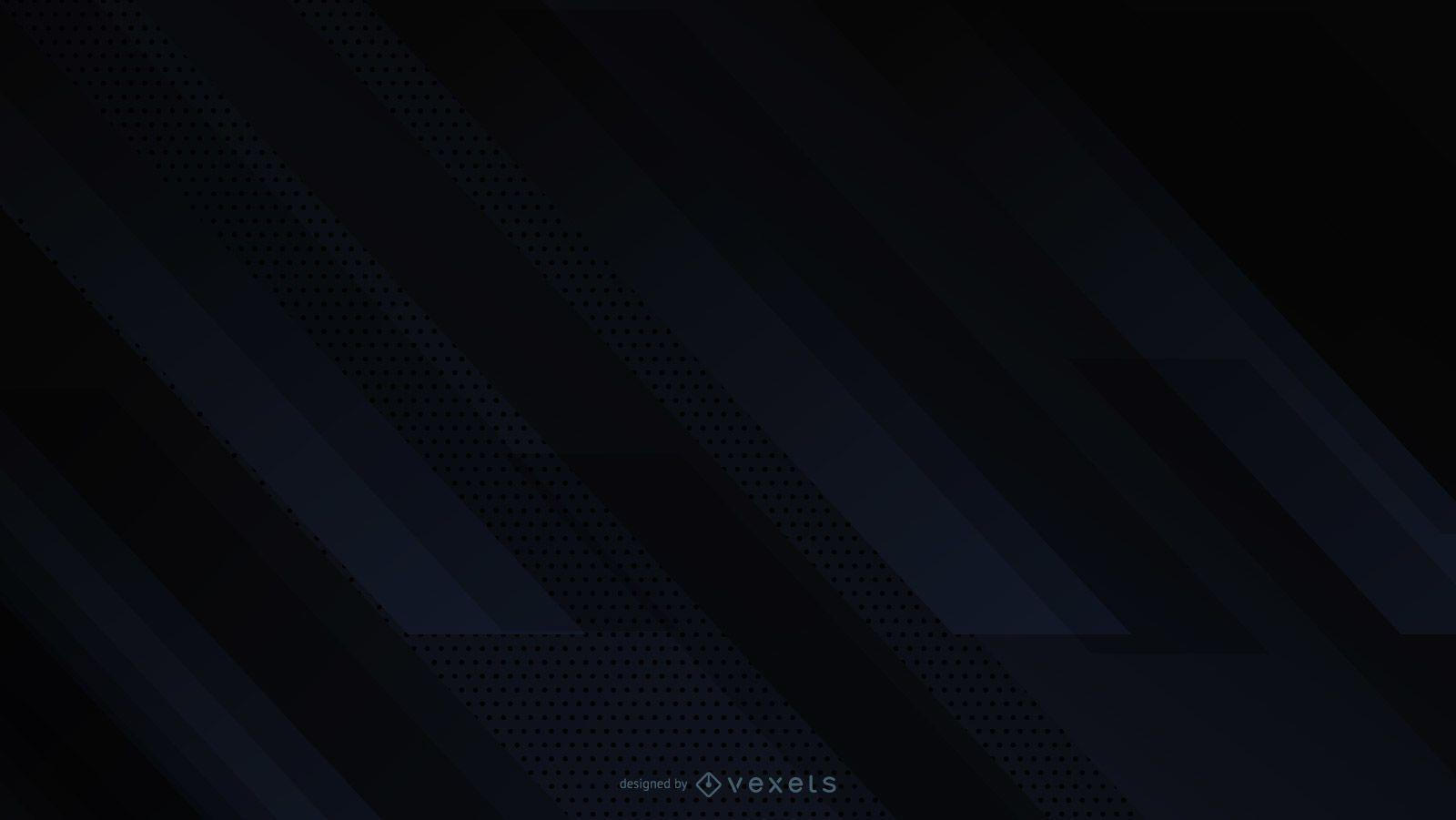 Black background diagonal abstract design