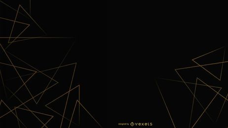 Black background triangles design