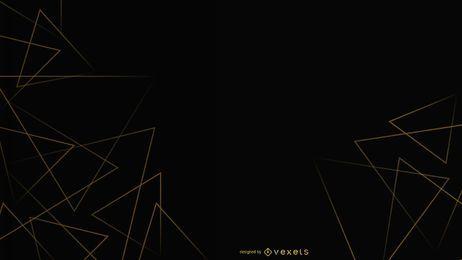 Diseño de triángulos de fondo negro