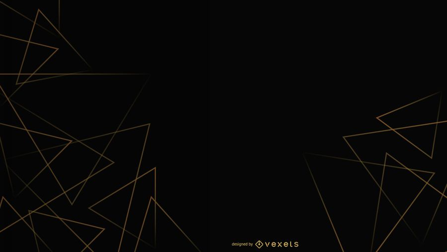 Black background triangles design