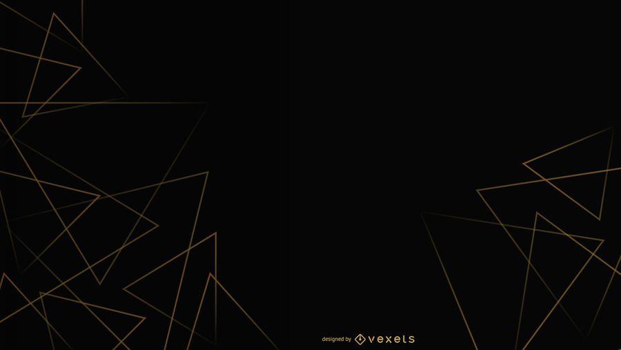 Schwarzer Hintergrund Dreiecke Design