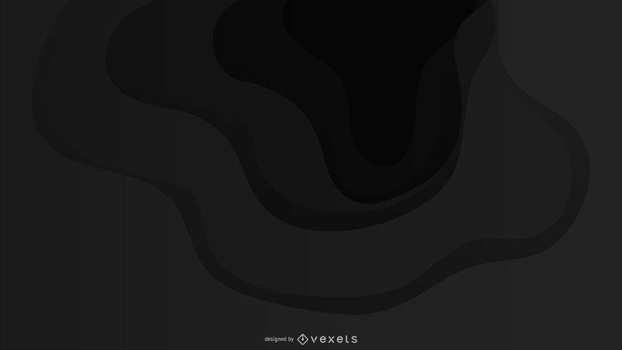 Diseño de fondo negro ondulado