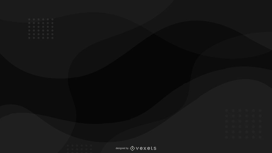 Black background abstract wavy design