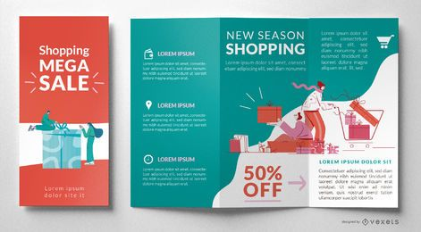 Modelo de folheto de venda de compras