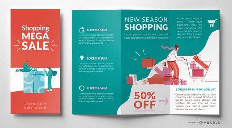 Shopping sale brochure template