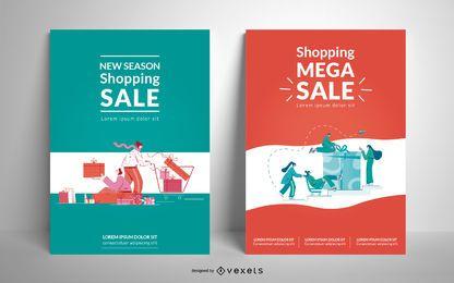 Modelo de pôster de venda de compras