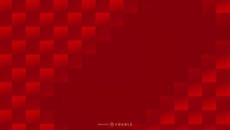 Quadrados vermelhos abstraem base