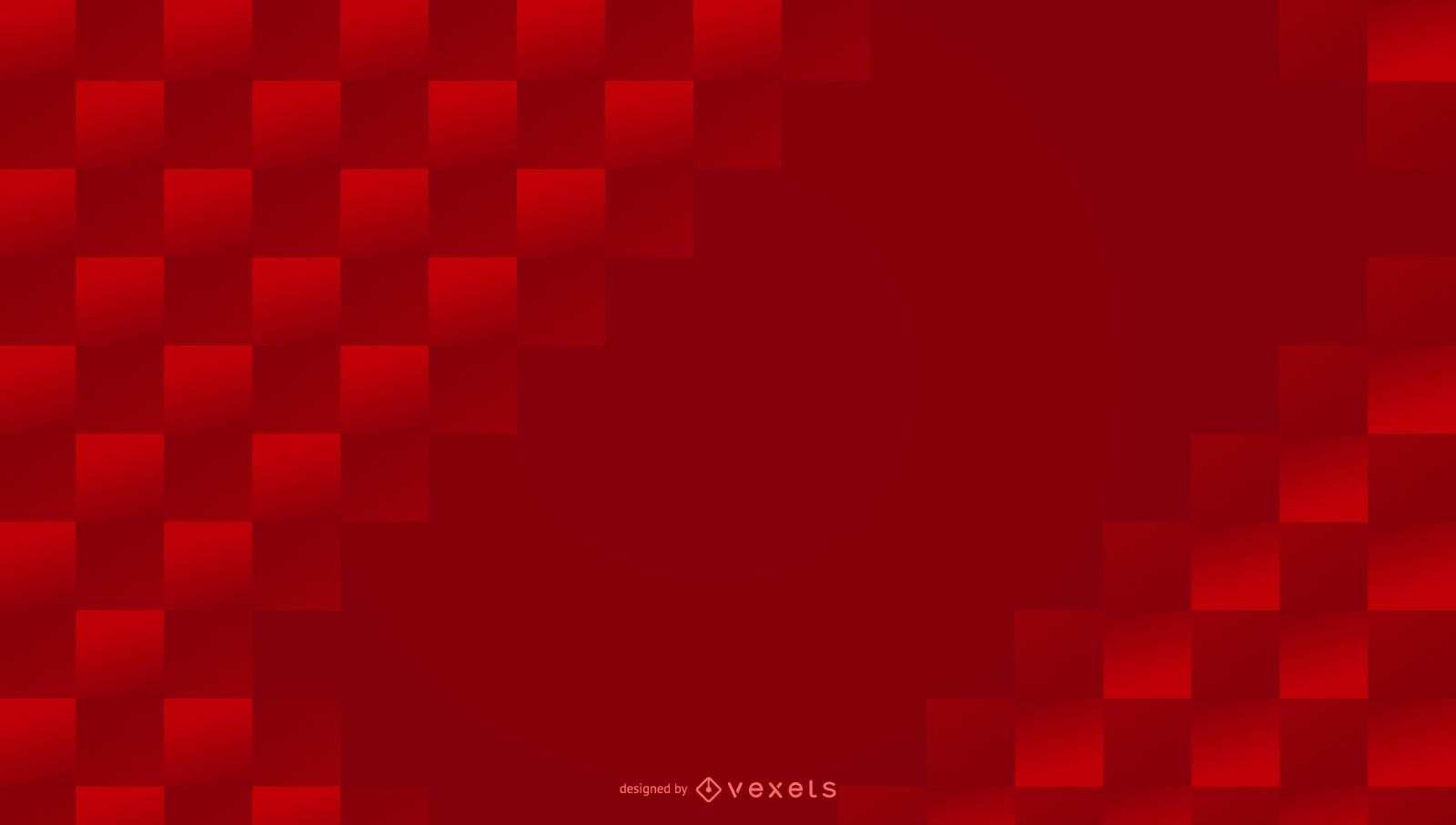 Red squares abstract background