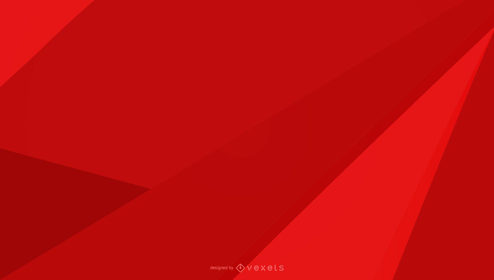 Diseño geométrico de fondo rojo