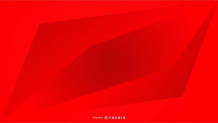 Design de gradiente geométrico de fundo vermelho