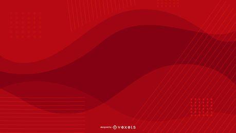 Design ondulado de fundo vermelho