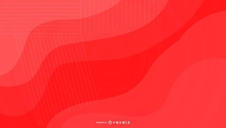 Bright red background design