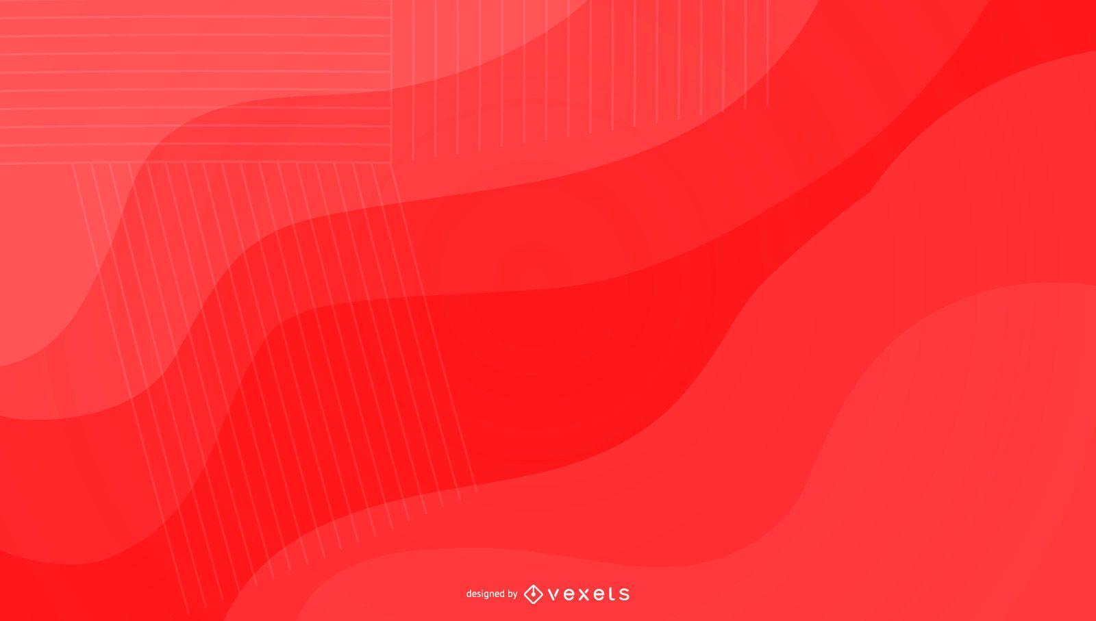Diseño de fondo rojo brillante