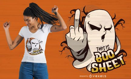 Design da camiseta Ghost Flipping Off Quote