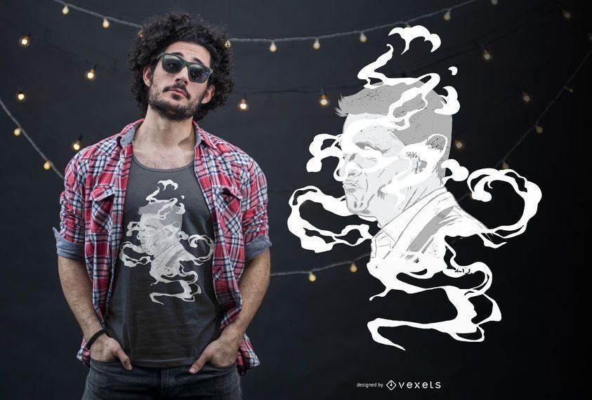 Diseño de camiseta Smoke Face