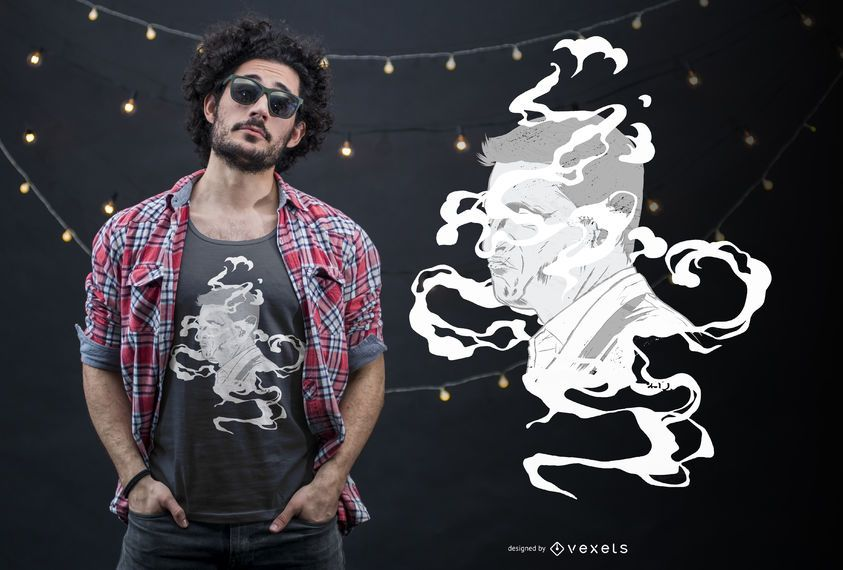 Smoke Face T-shirt Design