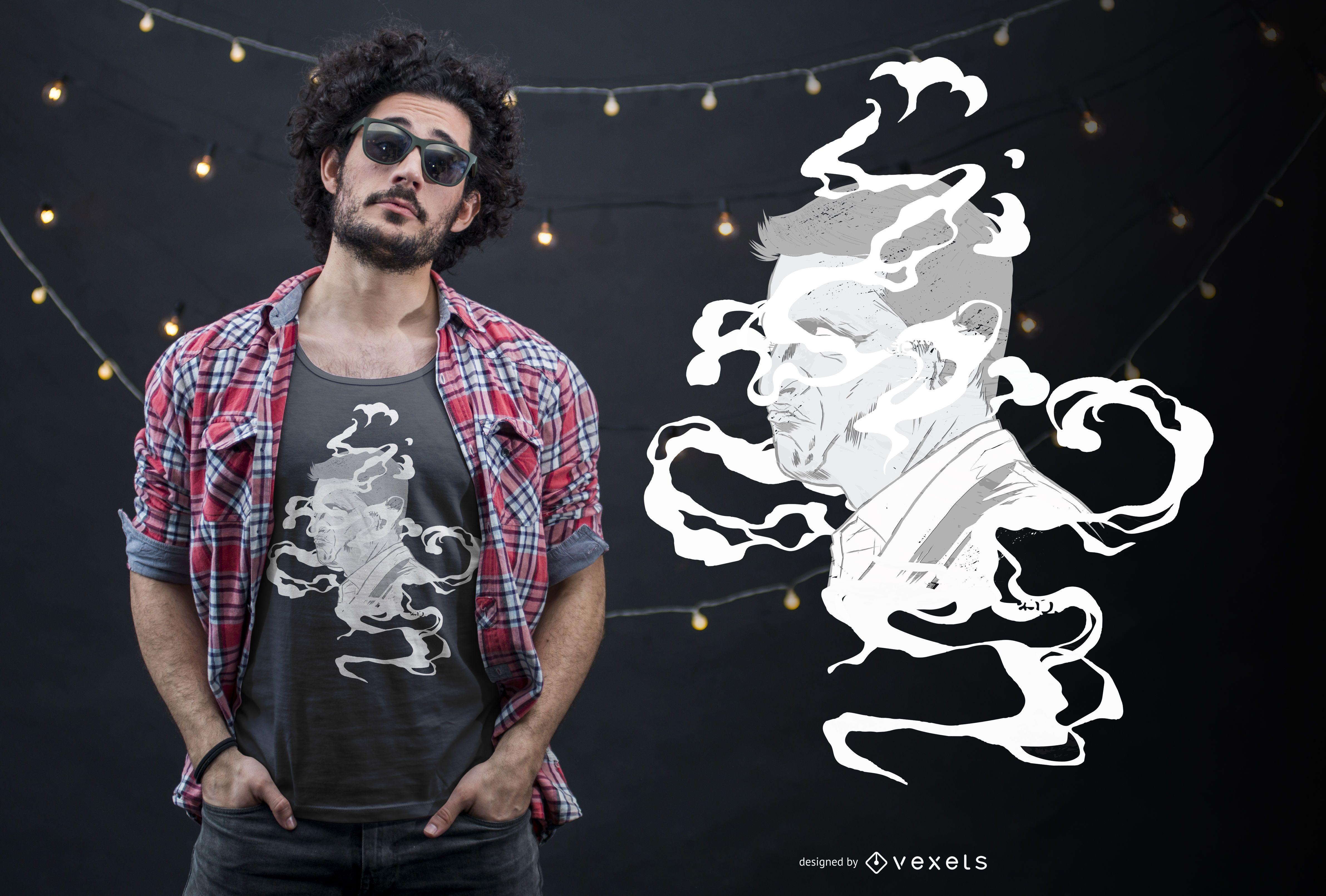 Smoke Face T-shirt Design
