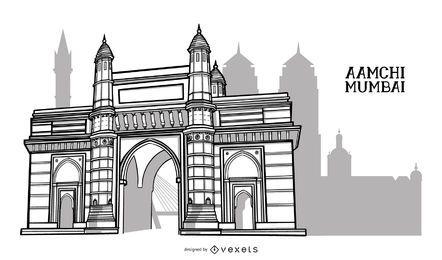 Mumbai-Gebäude-Stadt-Design