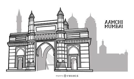 Projeto da cidade de construção de Mumbai