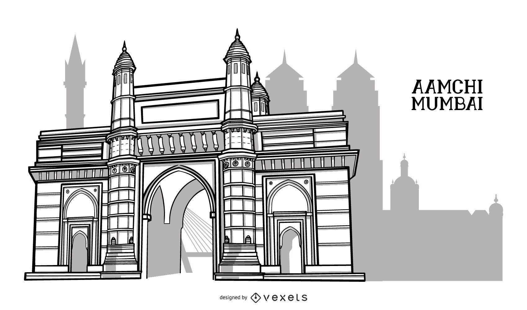 Diseño de la ciudad del edificio de Mumbai