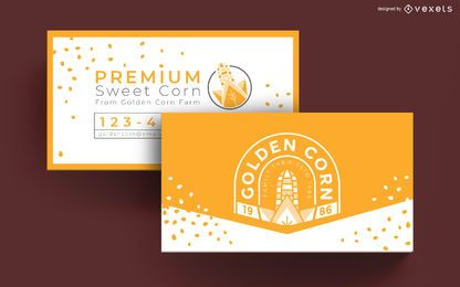 Goldene Maisbauernhof-Visitenkarte