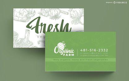 Cartão de visita de fazenda orgânica