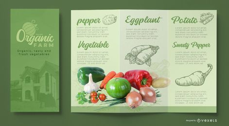 Plantilla de folleto de granja orgánica
