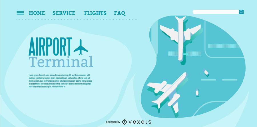 Diseño de página de aterrizaje de la terminal del aeropuerto