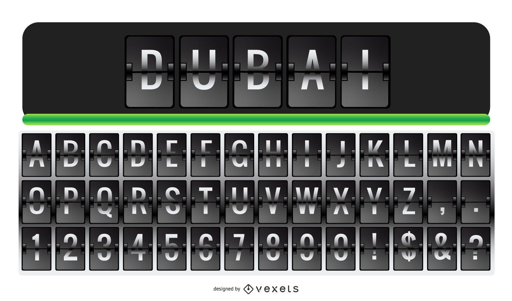 Airport Letter Alphabet Letter Number Set