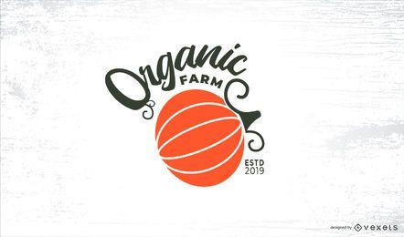 Modelo de logotipo de fazenda orgânica