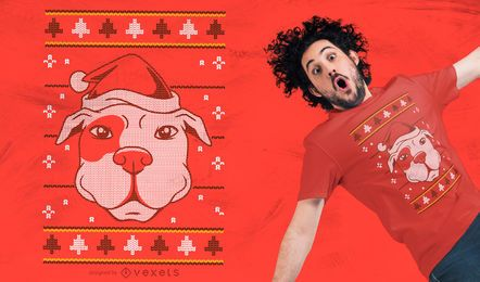Design feio do t-shirt do cão da camisola