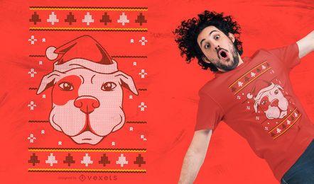 Diseño de camiseta de perro suéter feo