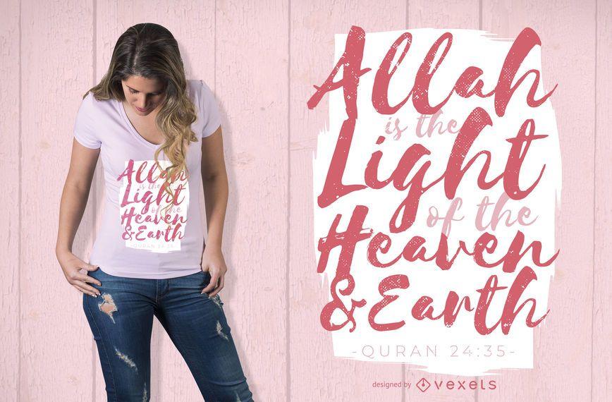 Diseño de camiseta de la cita del Corán