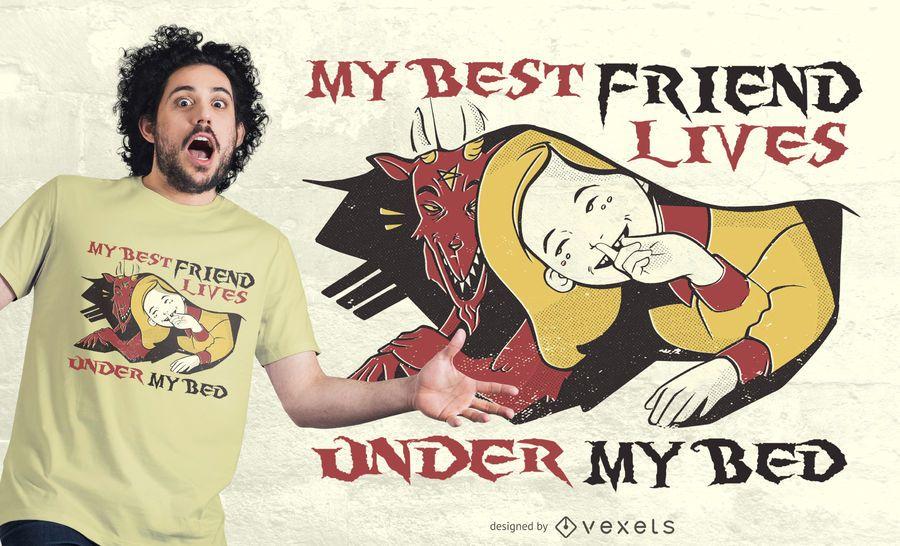 Diseño divertido de la camiseta de la cita del monstruo