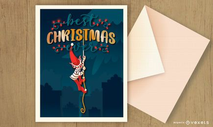 Christmas card elf design