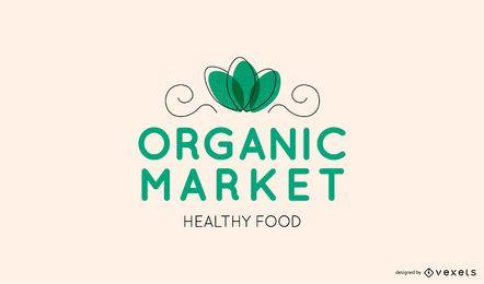 Logotipo editável do mercado orgânico