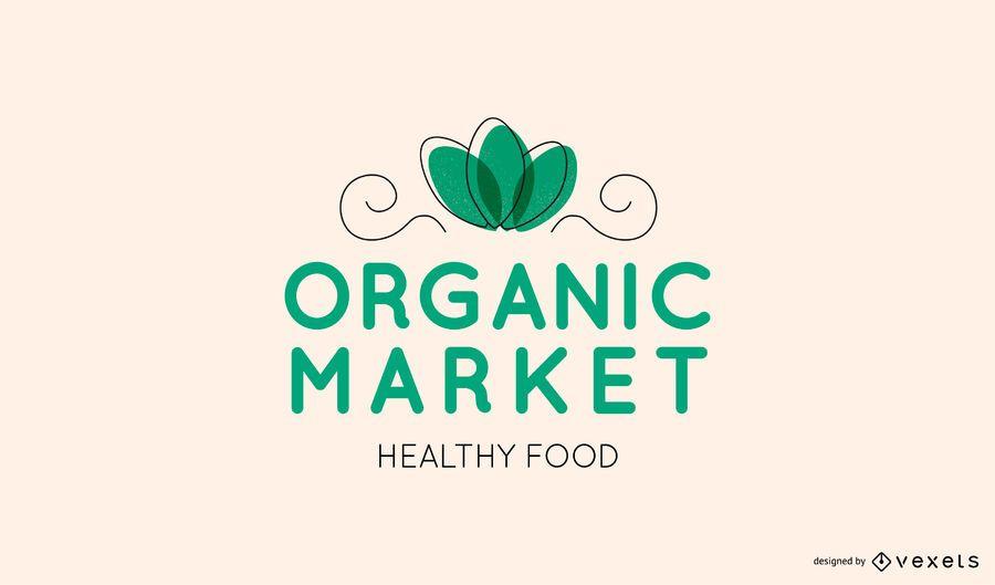 Logo editable del mercado orgánico