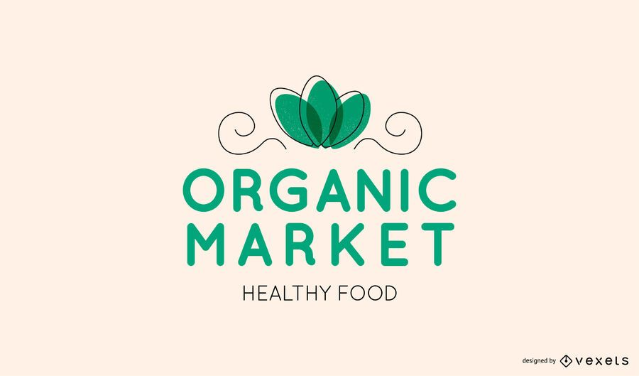 Organic market editable logo