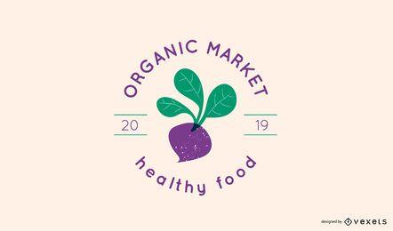 Organic market logo template
