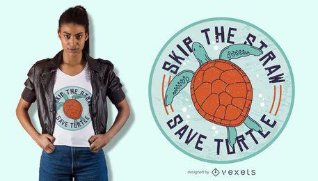 Speichern Sie Meeresschildkröte-T-Shirt Entwurf