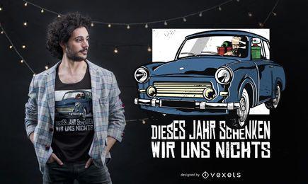 Weihnachtsdeutscher Zitat-T-Shirt Entwurf