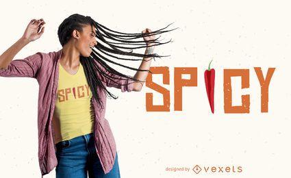 Würziges Paprika-Pfeffer-T-Shirt Desgin