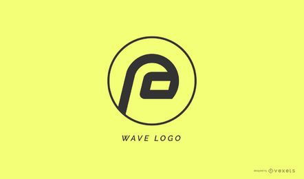 Abstract wave logo template