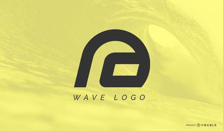 Plantilla de logotipo de onda abstracta